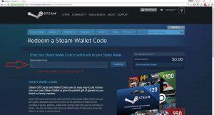 نحوه استفاده از گیفت کارت استیم Steam 4