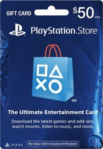 گیفت کارت ۵۰ دلاری پلی استیشن Playstation